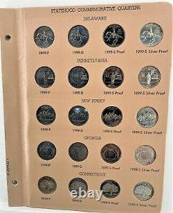 1999-2008 200 coin 50 State Quarter Inc. Proof & Silver Proof (2-Dansco Albums)