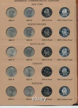 1999-2008 50 States Quarters (2) DANSCO Albums All Proofs Clad & Silver, Read
