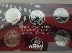 1999-2008 55-coin 50 State Quarter Complete Set (Dansco Albums)