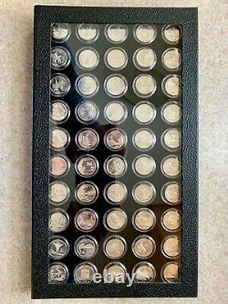 1999 2008 Complete Silver Proof State Quarter Collection in Display Case