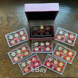 1999 -2008 Complete U. S. Silver Proof Coin 10 Sets 50 State Quarters DISPLAY BOX