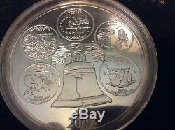 1999-2008 Giant Silver State Quarter Proof 4 Troy Oz. 999 Fine Highland Mint