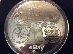 1999-2008 Giant Silver State Quarter Proof 4 Troy Oz. 999 Fine Highland Mint