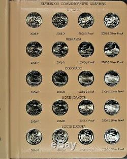 1999-2008 P, D, S Complete State Quarter Set with Silver Proofs in Dansco Albums