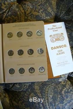 1999-2008 P, D, S, S silver State Quarter Dansco complete set with 2009 Territories