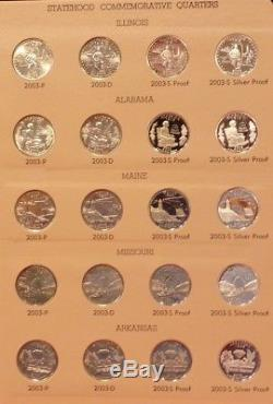 1999-2008 P-d-s & Silver S Statehood Quarter Set Dansco 8143 & 8144 Albums-nice