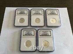 1999-2008 SILVER NGC PF-69 Ultra Cameo Quarter Set 50 Coin Complete Set