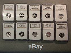 1999-2008 SILVER PF-69 Ultra Cameo Quarter Set. 3-NGC CasesGreat Coins