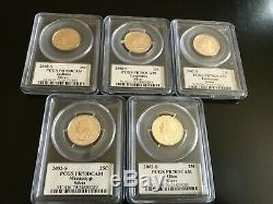 1999-2008-S COMPLETE SILVER PROOF STATE QUARTERS SET PCGS PR70 DCAM Registry