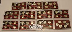 1999-2008 S Gem Proof State Quarter Set Run 90% Silver No Boxes or COAs 50 Coins