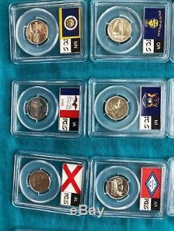 1999-2008-S Plus 2009-S Silver Proof State Quarter Set PCGS PRDCAM 56 Coins