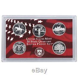 1999-2008 S Proof State Quarter Set Run 90% Silver No Boxes or COAs 50 Coins