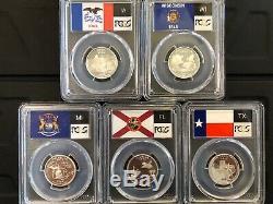 1999-2008 S SILVER 50 State Quarter Set PCGS PR69DCAM Insured Shipping