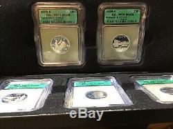 1999-2008 (S) STATE SILVER QUARTERS SET ICG PR70 DCAM 10 Sets