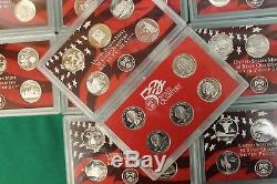 1999-2008 S Silver Proof State Quarter set run No boxes or COA 50 coins
