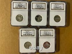 1999-2008 S Silver Statehood Quarter Set NGC PF70 Ultra Cameo with (3) NGC Cases