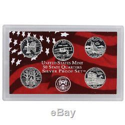 1999-2008 S State Quarter 90% Silver Proof Set Run No Boxes or COAs 50 Coins