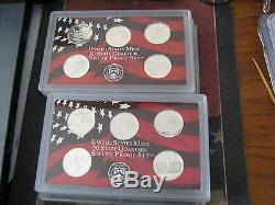 1999-2008-S US PROOF SILVER STATE QUARTERS 50 CAMEO COINS #af