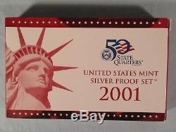 1999 2008 Silver Proof Sets Including 50 Silver State Quarters Plus Much More