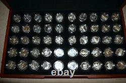 1999-2008 Silver Proof State Quarters Set with Display Box