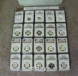 1999-2008 Silver State Quarters Set NGC PF 70 Ultra Cameo (DELAWARE TOO!) +2009