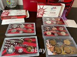 1999 2008 Silver proof set (B) include 50 state quarter collection in Silver