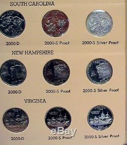 1999 2008 State Quarters P D S Proof & Silver Mints 200 Coin Set Dansco