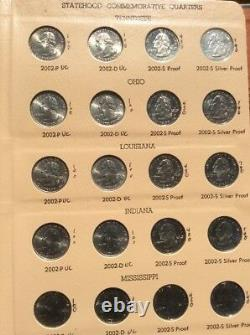 1999 2008 State Quarters set PDS and SILVER PDSS / 2 Dansco Albums MUST SEE