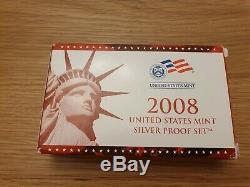 1999-2008 US MINT Silver Proof Sets (10 Sets) All State Quarters