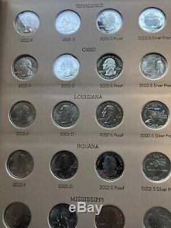 1999 2008 WASHINGTON STATEHOOD QUARTER COMPLETE SET WithSILVER PROOFS
