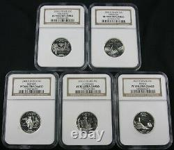 1999 2009 Complete Silver Quarter Proof Set Ngc Pf 70 56 Coins