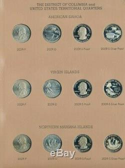 1999-2009 STATE QUARTER COLLECTION-224 COINS WithSILVER PROOFS! UNC COINS-FREE S/H
