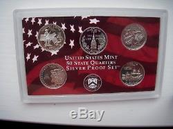 1999-2009 S 11 Silver Proof State Quarter Sets in Original US Mint Cases