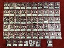 1999-2009 S 25C Silver State Quarter 56 Coin Proof Set PCGS PR69 DCAM + BONUS