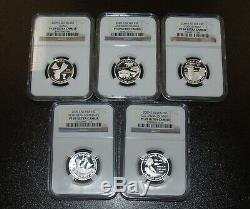 1999-2009-S Silver Proof State Quarter (6 Parks) Set NGC PF69UCAM 56 Coins