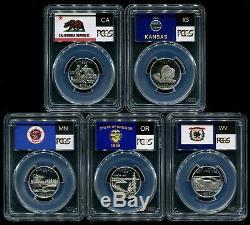 1999-2009 S Silver State Quarter 56 Coin Proof Set PCGS PR69 DCAM 25C New Holder