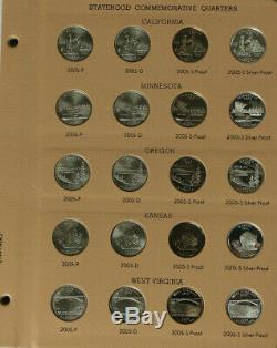 1999-2009 State Quarter Complete Set PDS & S Silver Proof in Dansco Albums