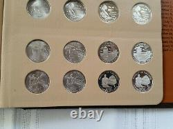 1999 2009 State Quarter P, D, S & Silver Proof Complete 224 Coin Set in Dansco