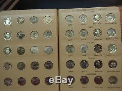 1999-2009 State Quarter Territories Complete Set 224 Coins withSilver Proof Dansco