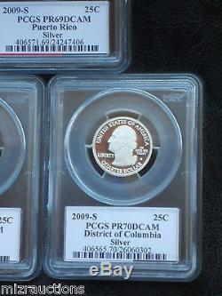 1999-2009 State & Territory Silver Quarters PCGS Flag Label + 4 more (60 total)