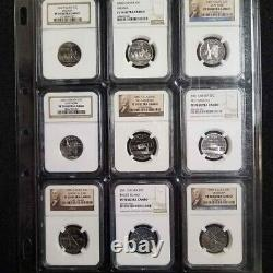 1999 2009 State & US Territories Quarters NGC PR70 UCAM ALL 112 COINS