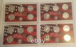 1999-2010 SILVER (61) State, Territory & ATB Quarter Proof Sets 1999 ALL 9 COINS