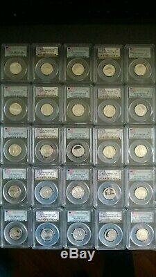 1999-2014 S Silver quarter set PCGS PR69DCAM