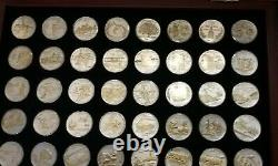 1999-2016 GOLD & SILVER HIGHLIGHTED STATE QUARTER 86 COIN SET with DISPLAY BOXES
