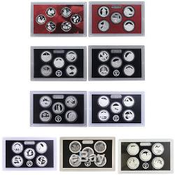 1999-2017 S State Quarter 90% Silver Proof Set Run No Box or COA 96 Coins