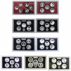 1999-2019 S State & Park Quarter 90% Silver Proof Set Run No Box or COA 106 Coin