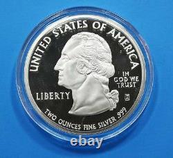 1999 Georgia 2oz Silver State Quarter Giant Proof from Washington Mint