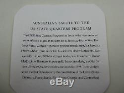 1999 Kilo KOOKABURRA Honor Mark AG Coin with gold privies of US State Quarters