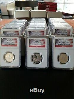 1999 S-2008 S SILVER STATE QUARTER SET NGC PF 69 ULTRA CAMEO 50 COINS WithBOXES