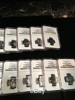 1999 S-2008 S SILVER STATE QUARTER SET NGC PF 69 ULTRA CAMEO 50 COINS WithBOX